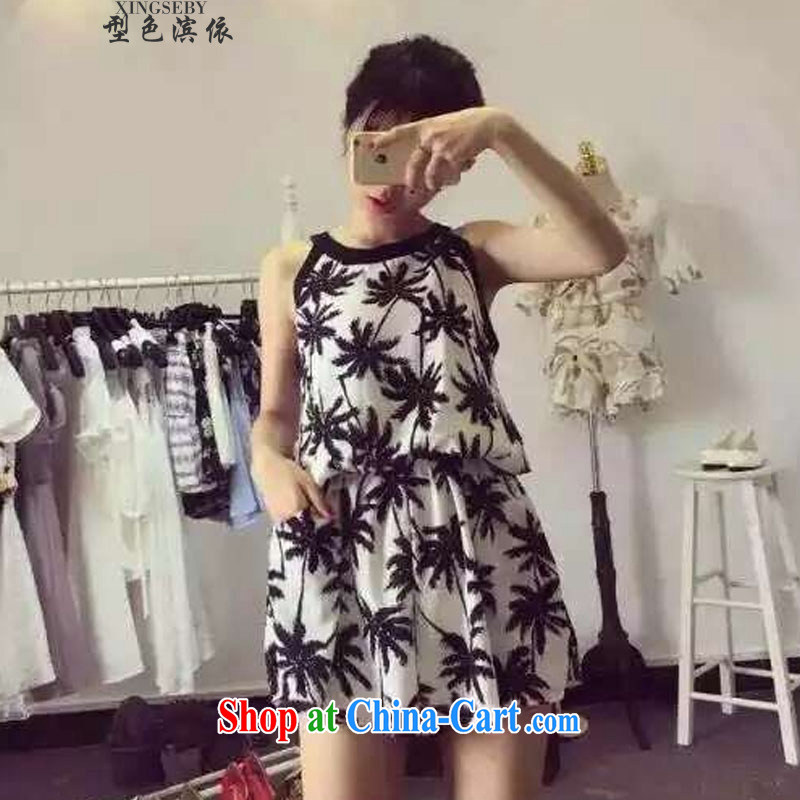 Type color bin in accordance with the video thin floral dress Korea Institute of wind sweet vest sleeveless dresses and 336 6607130 B black are code
