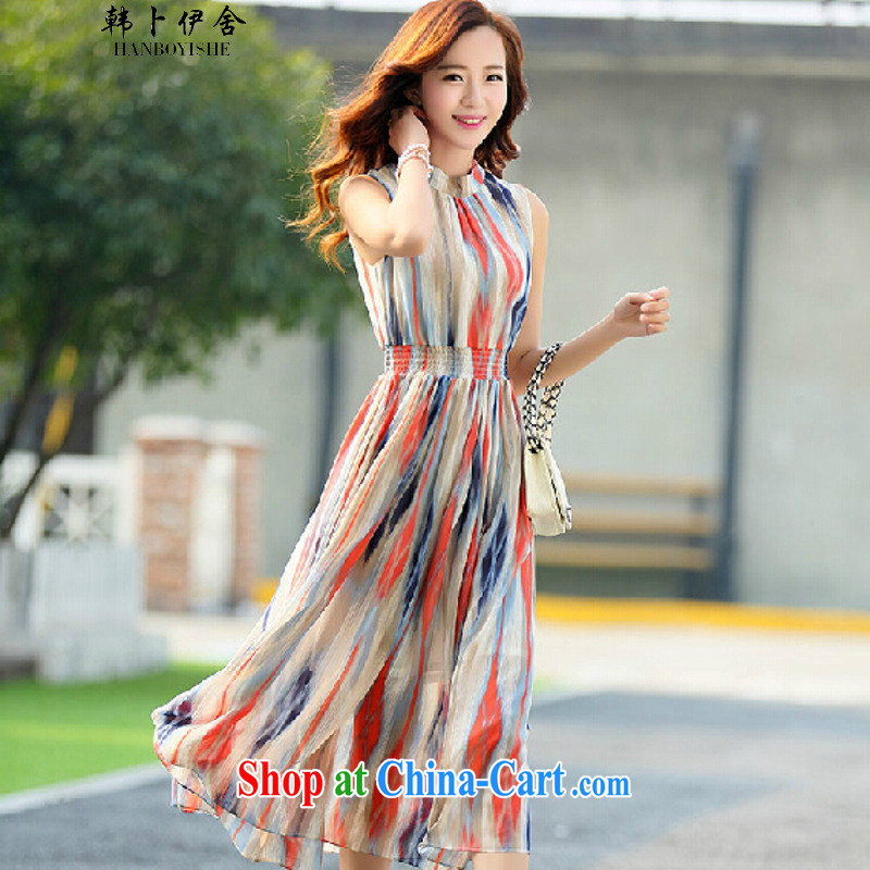 South Korea, the rounded academic Summer of Korea long snow-woven dresses female Bohemia, winds, cultivating the 325 A 901,030 red L