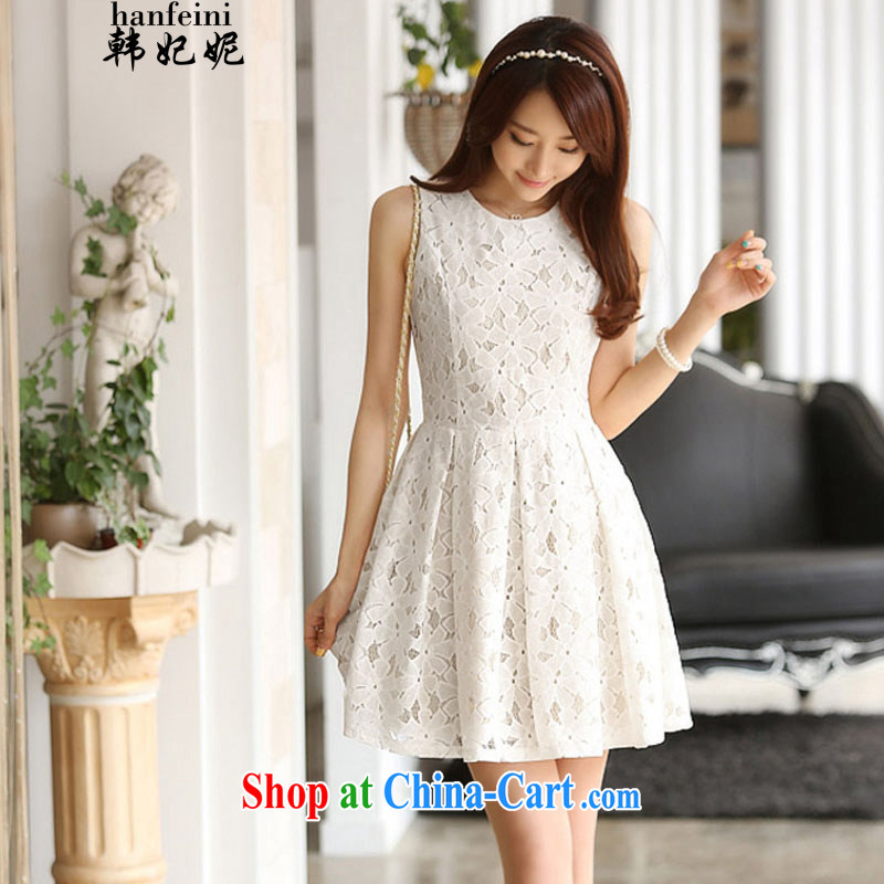 Korean Princess Anne Korean version of the new, elegant blooms Lotus dresses and 325 A 900,328 white L