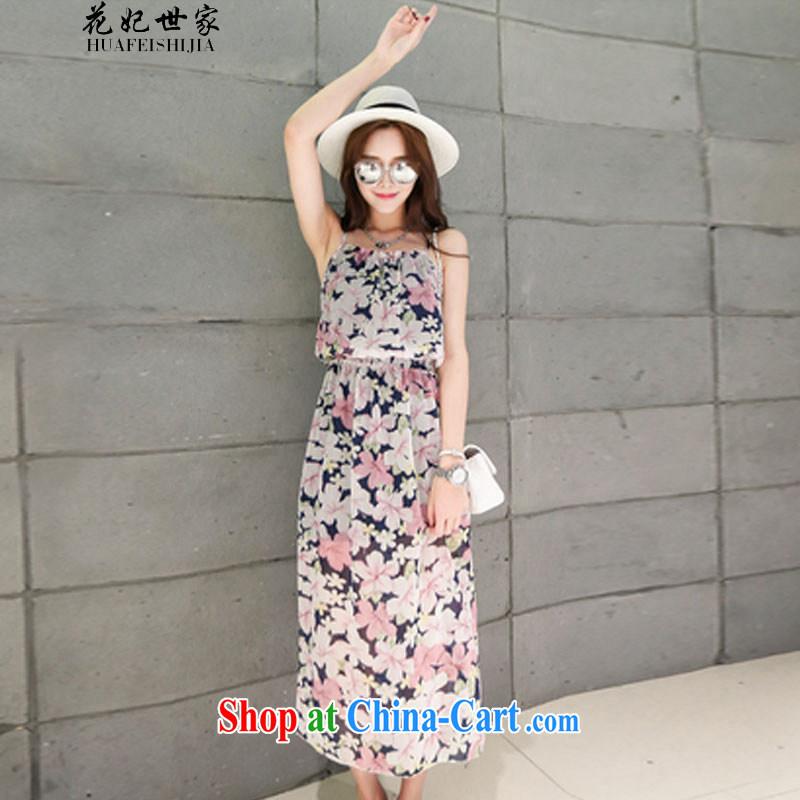 Take Princess Norodom Sihanouk Family Summer Snow woven strap flouncing stamp bohemian skirts beach skirt the 425510232 4 L