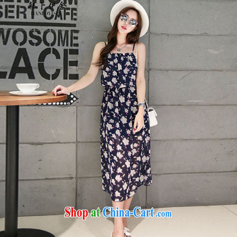 South Korea, the rounded academic Summer Snow woven strap with flouncing stamp bohemian long skirt skirt Beach The 425510232 3 M