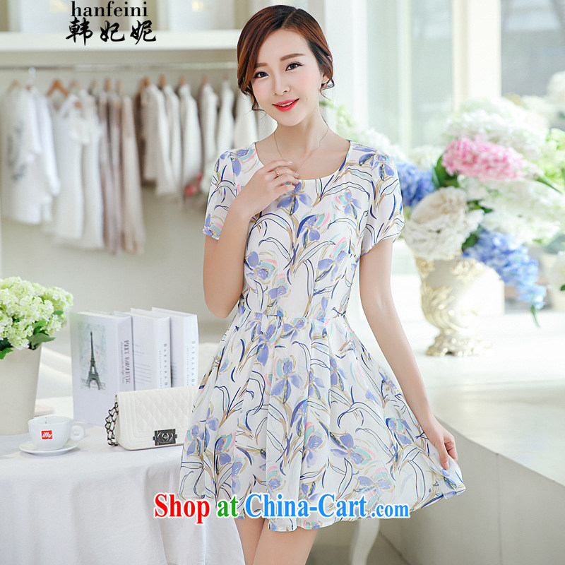 Korean Princess Anne Korean summer floral snow woven shirts T shirts solid shirt short-sleeved dresses and 40881335 white M