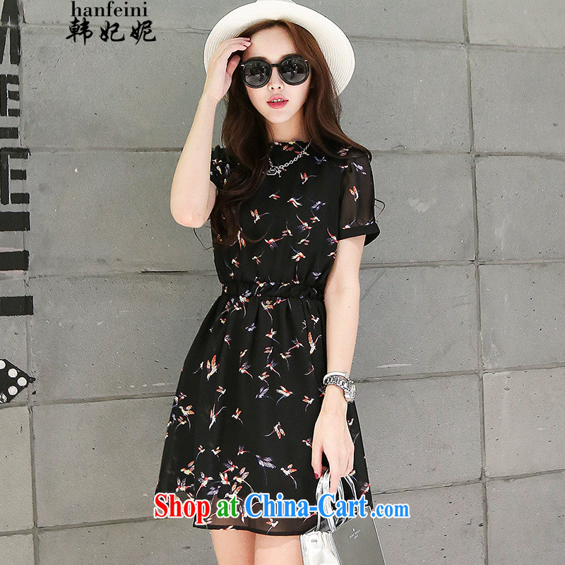 Korean Princess Anne retro floral, for snow-woven dresses small floral large, short-sleeved floral skirt and suit 425510436 XL