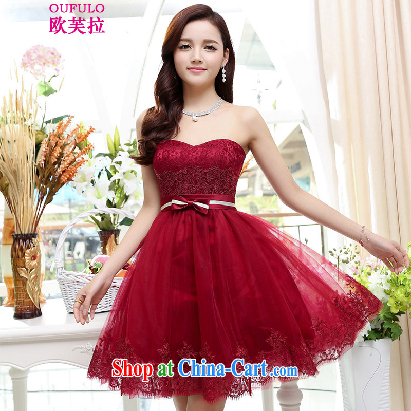 Europe could pull Oufulo 2015 new spring and summer stylish bridal toast pregnant women dress elegant short banquet upscale dress the Show night of drinking red S