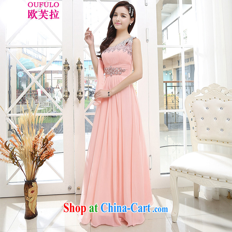 Europe could pull Oufulo 2015 stylish upmarket big bridal toast serving New betrothal wedding dress the dinner show service beauty long pink XL