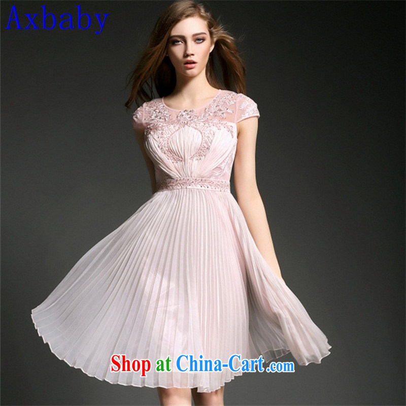 Axbaby 2015 spring and summer new European luxury fashion and the Pearl River Delta (PRD 100 hem hem beauty dress dresses 60,015 ��ɳ color 4