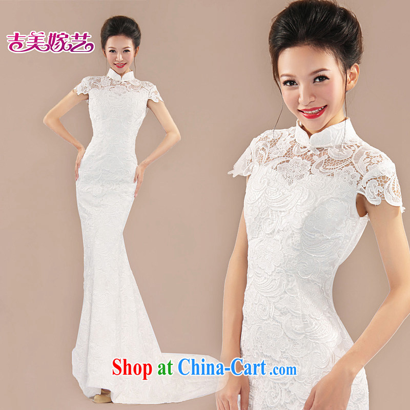 LACE wedding dresses Jimmy married arts 2015 New back exposed Korean version with tail LT 6052 bridal dress Openwork XL