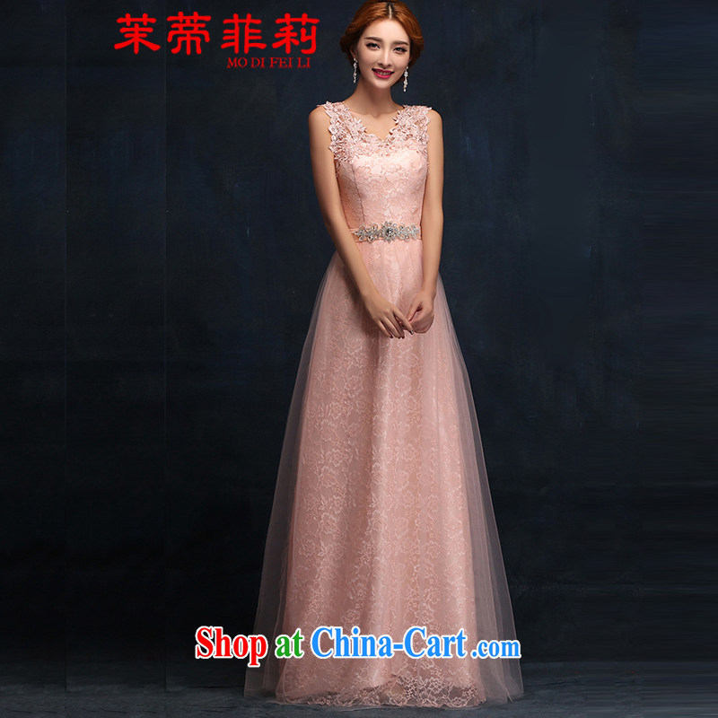 Energy Mr. Philip Li 2015 new toast marriage serving double-shoulder the long summer bridesmaid dress dress Evening Dress champagne color XXL