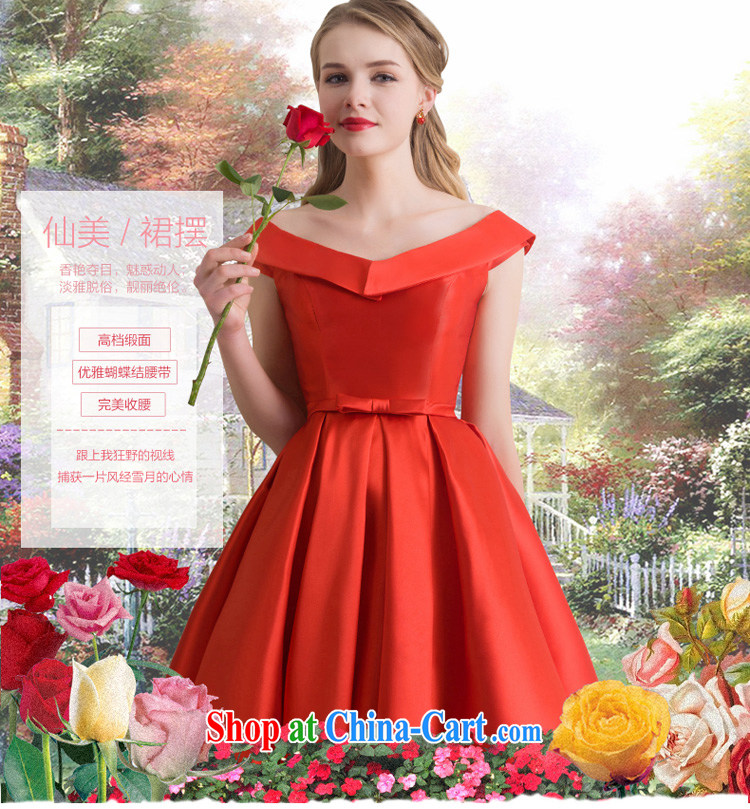 Marriage Ceremony Service toast bride summer short little red dress ...