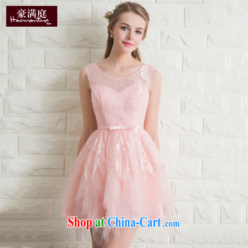 bridal gown red short wedding toast clothing bridesmaid dresses the wedding banquet dress 2015 new summer Jade pink XL