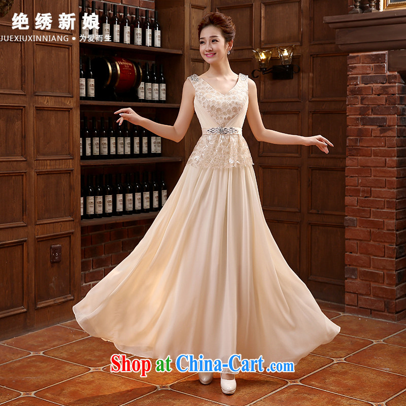 The bride, Evening Dress summer 201 new Korean single shoulder diamond jewelry beauty graphics thin banquet toast serving pink made cannot be returned.