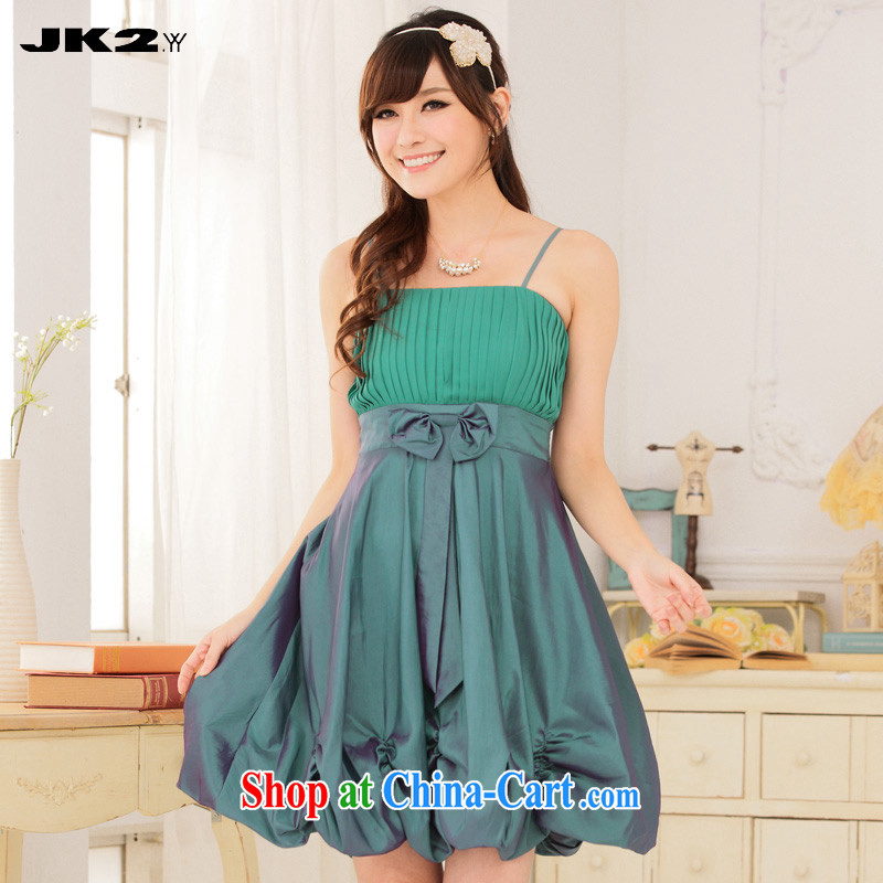 JK 2. YY 2015 new pressure hem the waist lantern dress straps dress thick MM beauty bridesmaid clothing green XXXL 160 recommendations about Jack