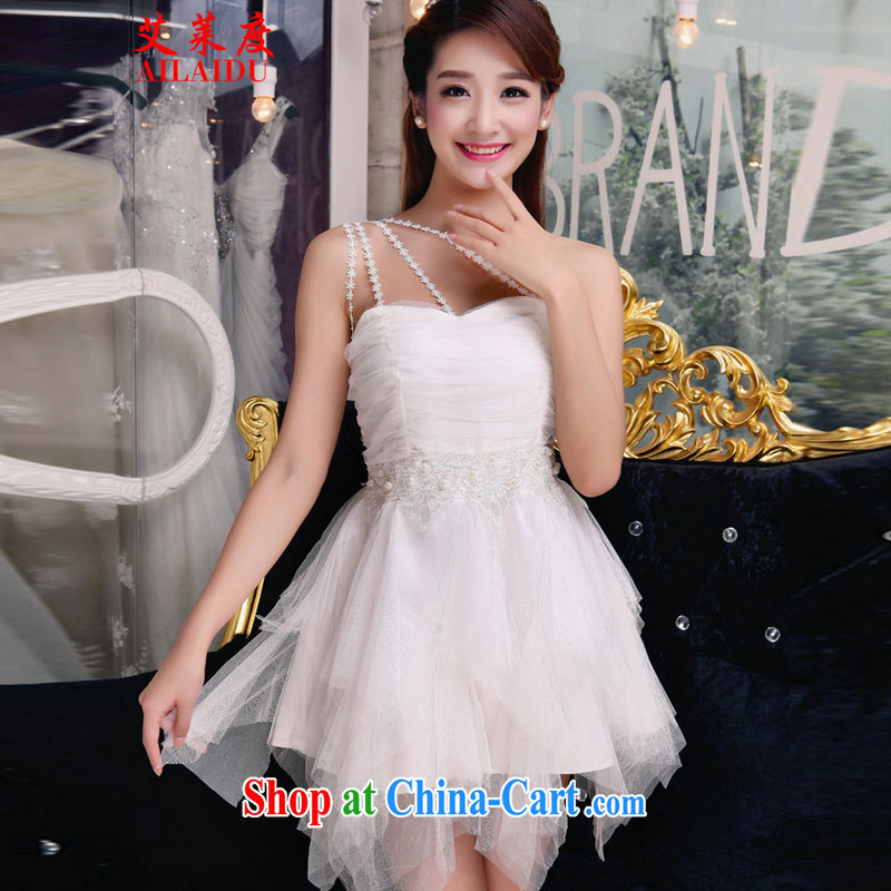 The Adelaide, 2015 autumn staple manually inserts Pearl drill temperament Beauty Chest bare dresses bridesmaid groups dress skirt JMB 156-B _ 8875 white L