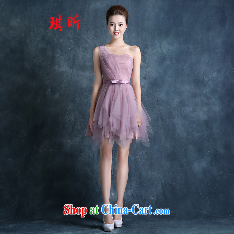 Angel year bridesmaid clothing summer 2015 new Korean short bridal bridesmaid dress Mary Magdalene mission chest ��ɳ skirts small dress ��ɳ red XXL