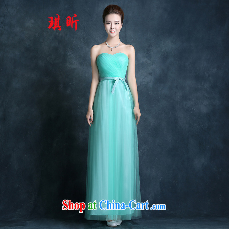 Angel year bridesmaid service 2015 New Spring Summer long bridesmaid dresses in SISTER dress bridesmaid dress wedding banquet dress girl light green XXL