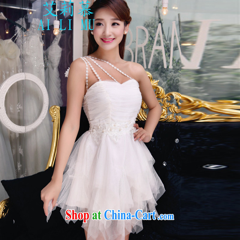 Allie's 2015 autumn staple manually inserts Pearl drill temperament Mary Magdalene Beauty Chest dresses bridesmaid groups dress skirt P BR 318 8875 white L