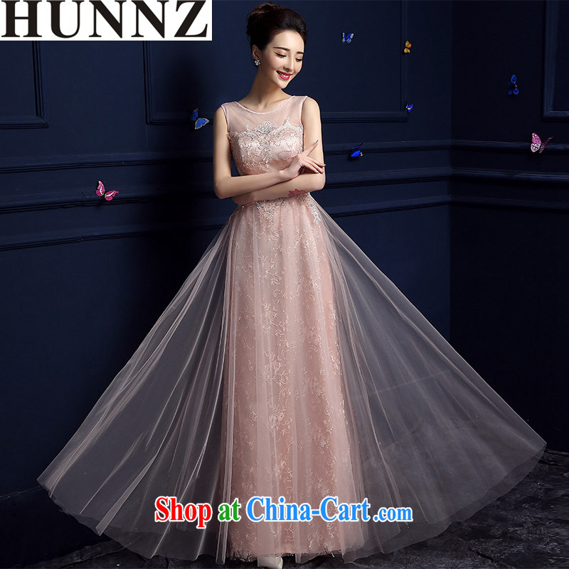 Products HUNNZ 2015 new spring and summer Korean red double-shoulder fashion dress bridal dresses serving toast pink XXL