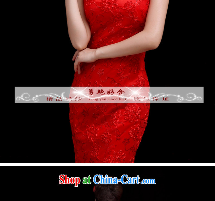 Yong-yan and bridal wedding dresses serving toast 2015 spring and summer new crowsfoot Chinese Antique red wedding dresses, long red long. size color is not final pictures, price, brand platters! Elections are good character, the national distribution, so why buy now enjoy more preferential! Health