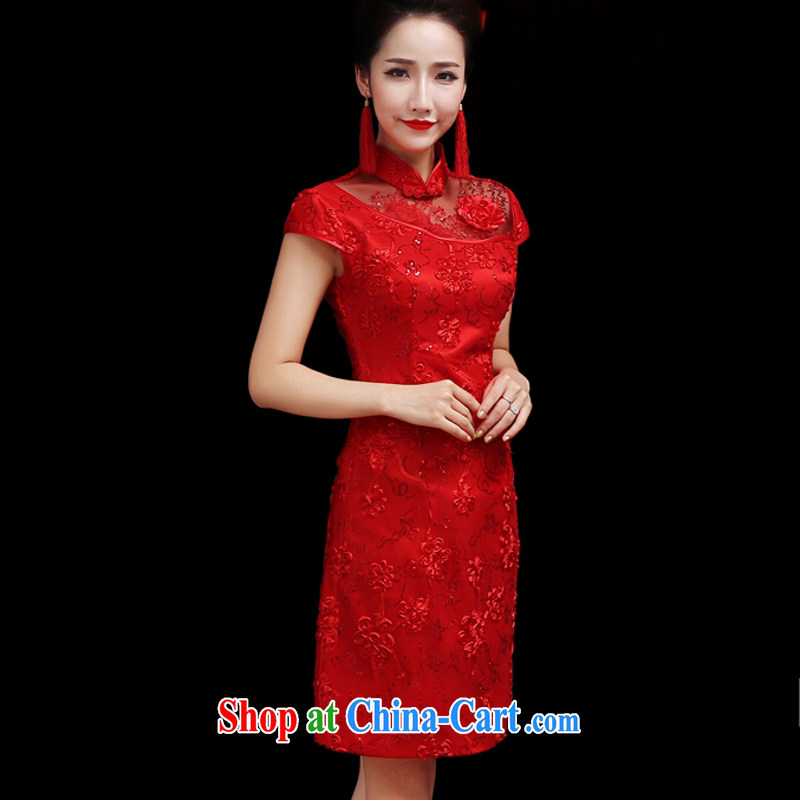 Yong-yan and bride's wedding dresses serving toast 2015 spring and summer new crowsfoot Chinese Antique red wedding dresses, long red long. size color is not final, and Yong-yan good offices, and online shopping
