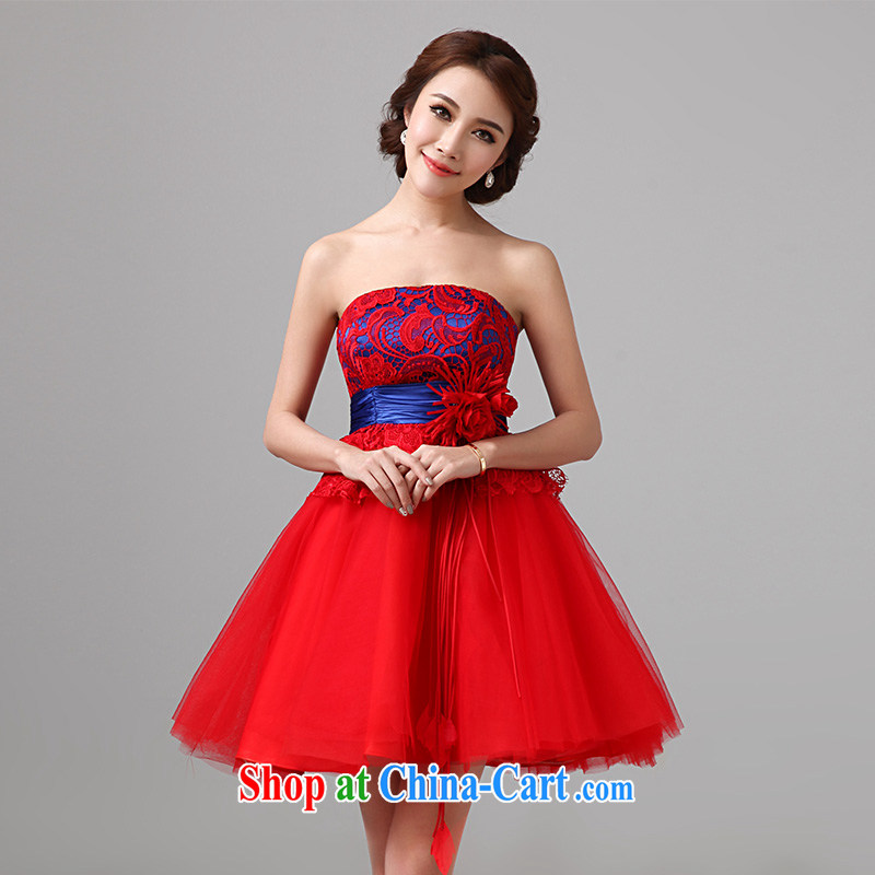 According to Lin bows her clothes bridal summer pregnant women wedding dresses 2015 new short red dresses, wedding dress summer female Red XXL