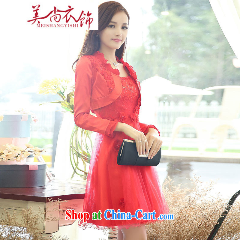 The US is still clothing summer 2015 new dress code the dress wedding bridal dresses pregnant women replacing the door bows clothing bridesmaid dress red XXL