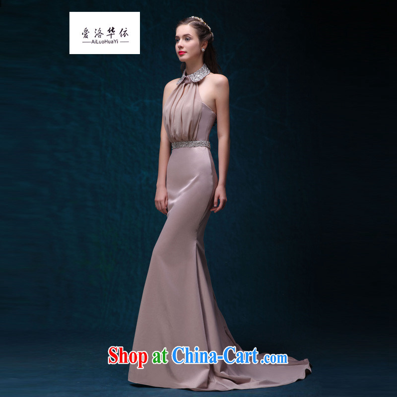 Toast serving long, Korean Beauty crowsfoot moderator service 2015 new summer bridal wedding dress is also at Merlion long-tail banquet dress Light Gray will do 7 Day Shipping does not return does not switch